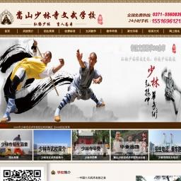 www.shaolinxueyuan.com网站截图